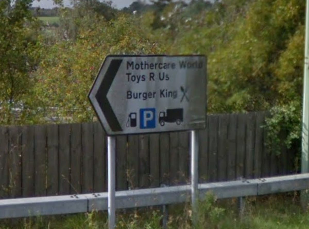 Lorry parking sign